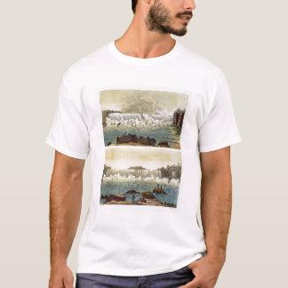 Niagara Falls, 1818 (colour engraving) T-Shirt