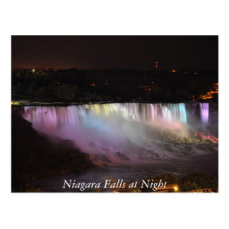 Niagara Falls at Night Postcard