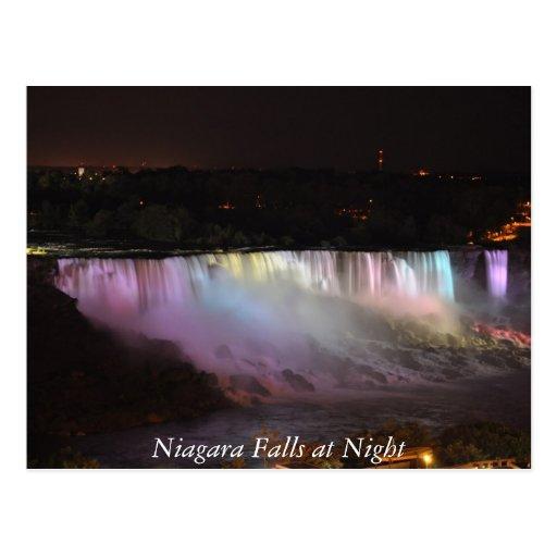 Niagara Falls at Night Post Cards