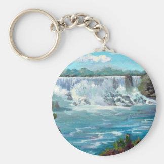 Niagara falls basic round button key ring