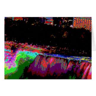 Niagara Falls by Night Greeting Card