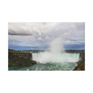Niagara Falls, Canada, Horseshoe Falls and Clouds Canvas Print
