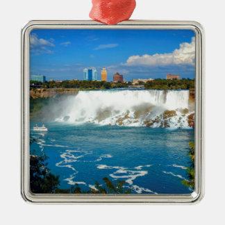 Niagara falls, Canada Silver-Colored Square Decoration