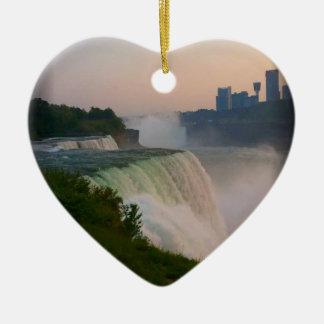 Niagara Falls Ceramic Heart Decoration