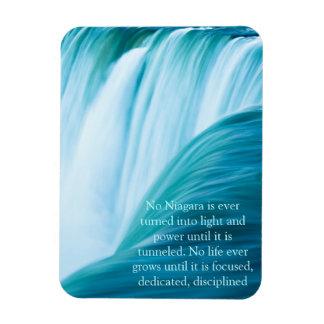 Niagara Falls Dedicated and Disciplined Rectangular Photo Magnet
