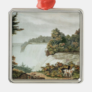 Niagara Falls, from Goat Island Silver-Colored Square Decoration