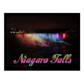 Niagara Falls Lights at Night Post Cards