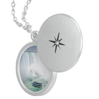 Niagara Falls, Medium Sterling Silver Round Locket