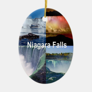 Niagara Falls New York Ceramic Oval Decoration
