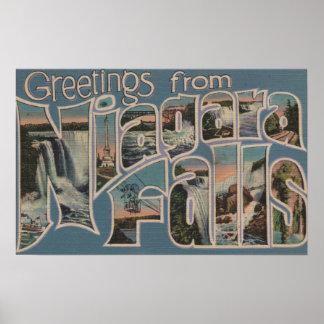 Niagara Falls, New York - Large Letter Scenes 2 Poster