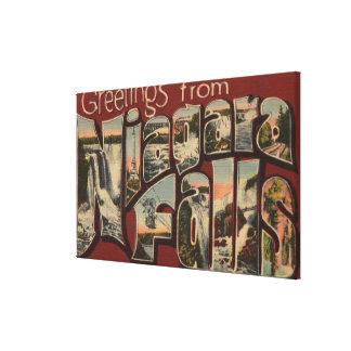 Niagara Falls, New York - Large Letter Scenes 3 Canvas Prints