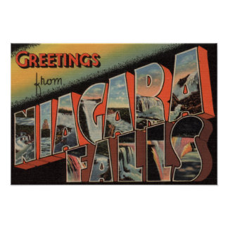 Niagara Falls, New York - Large Letter Scenes 4 Poster