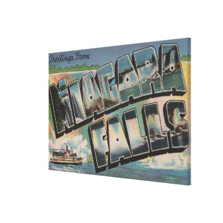 Niagara Falls, New York - Large Letter Scenes 5 Gallery Wrap Canvas