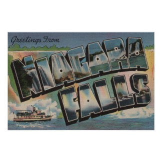 Niagara Falls, New York - Large Letter Scenes 5 Poster