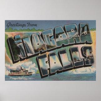 Niagara Falls, New York - Large Letter Scenes 5 Poster