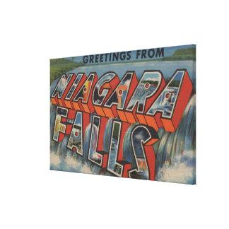 Niagara Falls, New York - Large Letter Scenes Canvas Prints