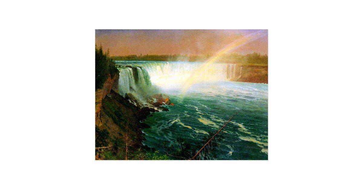 Niagara falls painting art artist Albert Bierstadt