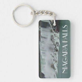 Niagara Falls Photo Double-Sided Rectangular Acrylic Key Ring