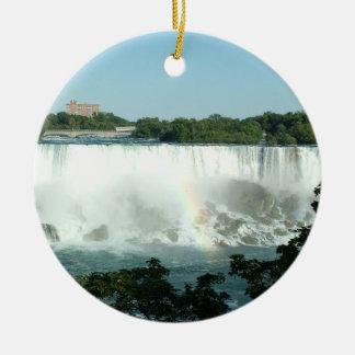 Niagara Falls Round Ceramic Decoration