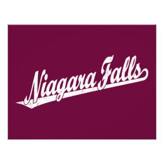 Niagara Falls script logo in white distressed 21.5 Cm X 28 Cm Flyer