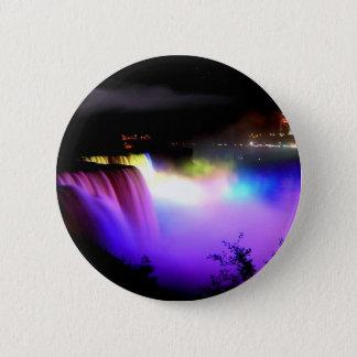 Niagara-Falls-under-floodlights-at-night 6 Cm Round Badge