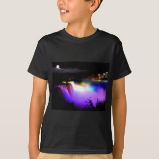 Niagara-Falls-under-floodlights-at-night T-Shirt