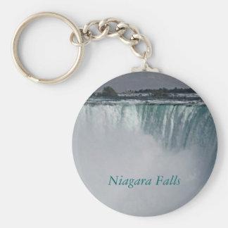 Niagara Falls Waterfall Basic Round Button Key Ring
