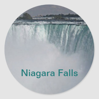 Niagara Falls Waterfall Classic Round Sticker
