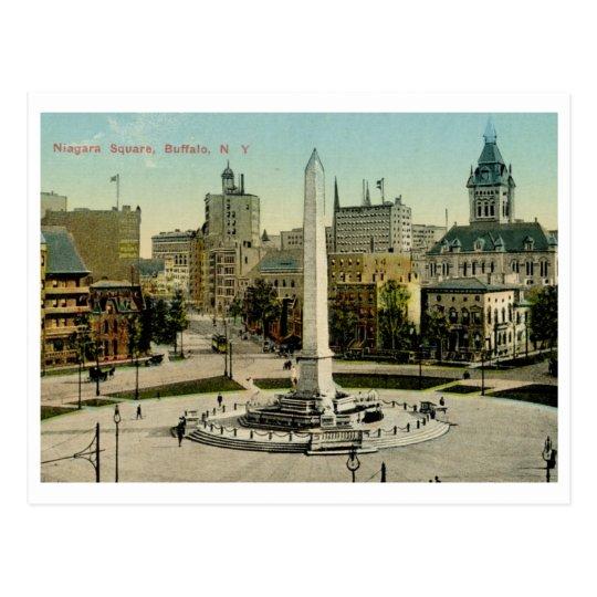 Niagara Square, Buffalo, NY Vintage Postcard