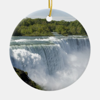 Niagara waterfall round ceramic decoration