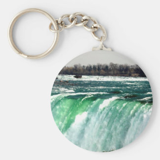Niagra Falls Basic Round Button Key Ring