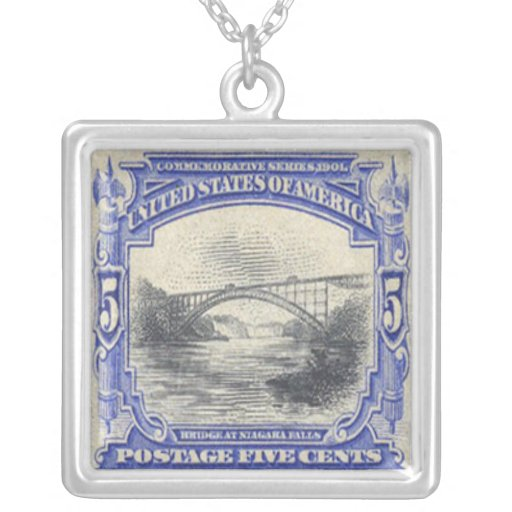 Niagra Falls Postage Stamp Necklace