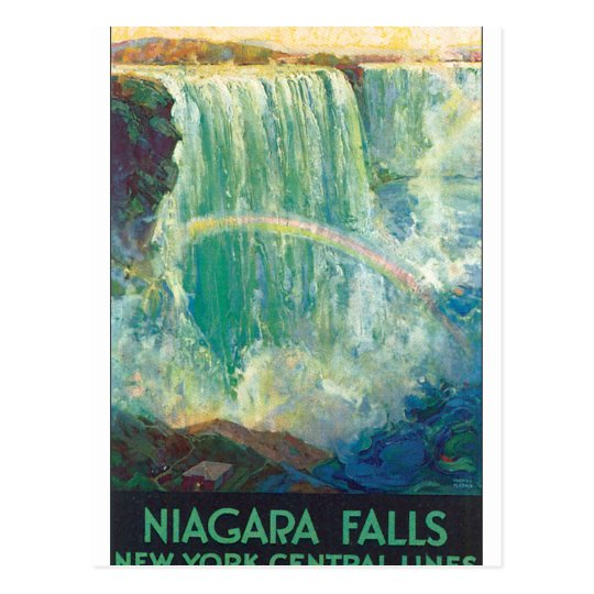 Niagra Falls Vintage Travel Poster Artwork Postcard