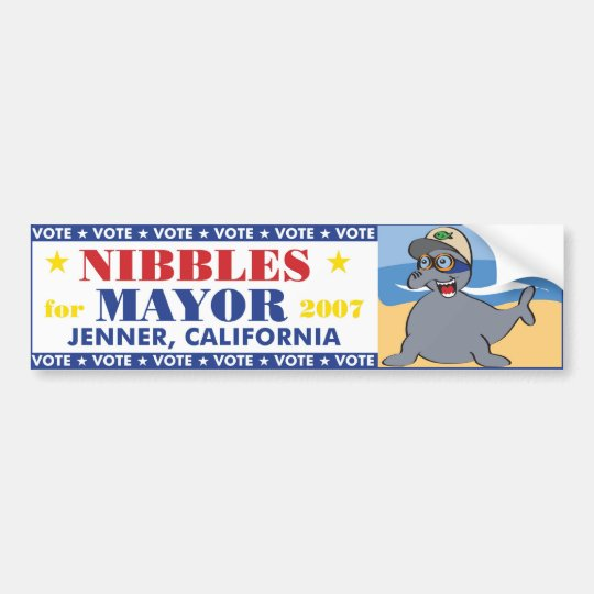 Nibbles for Mayor Bumper Sticker