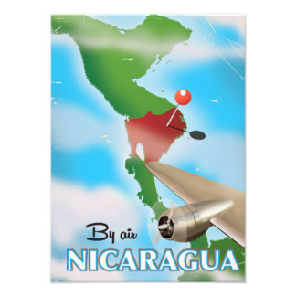 Nicaragua By Air vacation poster Art Photo