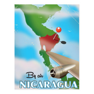 Nicaragua By Air vacation poster Postcard