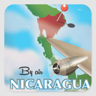 Nicaragua By Air vacation poster Square Sticker