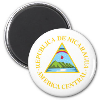 Nicaragua Coat Of Arms 6 Cm Round Magnet