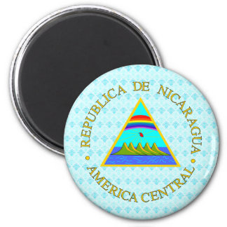 Nicaragua Coat of Arms detail 6 Cm Round Magnet