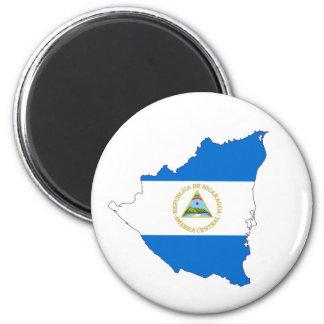 nicaragua country flag map shape symbol 6 cm round magnet