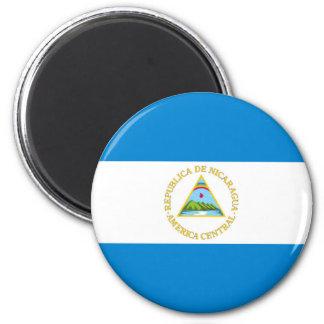 nicaragua country flag nation symbol 6 cm round magnet