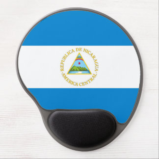 nicaragua country flag nation symbol gel mouse mat