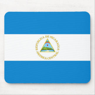 nicaragua country flag nation symbol mouse pad