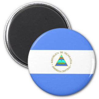 Nicaragua Flag 6 Cm Round Magnet