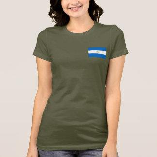 Nicaragua Flag and Map dk T-Shirt