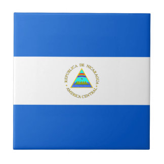 Nicaragua Flag Ceramic Tile