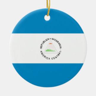 Nicaragua Flag Christmas Ornament