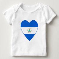Nicaragua Flag Heart T-Shirt