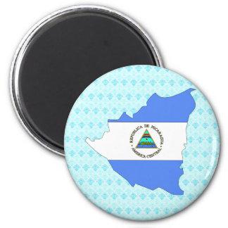 Nicaragua Flag Map full size Magnet
