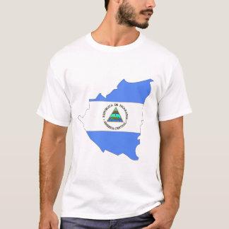 Nicaragua flag map T-Shirt